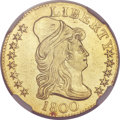 Early Half Eagles, 1800 $5 -- Plugged -- NGC Details. AU. BD-4, R.4....