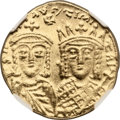 Ancients:Byzantine, Ancients: Constantine VI and Irene (AD 780-797). AV solidus (20mm, 4.43 gm, 6h). ...