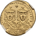 Ancients:Byzantine, Ancients: Leo IV, the Khazar (AD 775- 780) with Constantine VI . AVsolidus (21mm, 4.41 gm, 7h). ...
