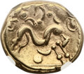Ancients:Celtic, Ancients: The Ambiani. Ca. 59-50 BC. AV stater (18mm, 6.16 gm). ...