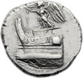 Ancients:Greek, Ancients: Demetrius Poliorcetes (306-285 BC). AR tetradrachm (27mm,16.86 gm, 12h). ...