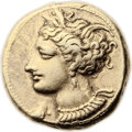 Ancients:Greek, Ancients: ZEUGITANIA. Carthage. Ca. 290-270 BC. EL stater (19mm,7.71 gm, 12h). ...