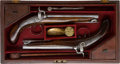 Handguns:Muzzle loading, Pair of British Single-Shot Traveling Percussion Pistols byWilson.... (Total: 2 Items)