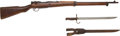 Long Guns:Bolt Action, Japanese Type 99 Short Bolt Action Military Rifle with Bayonet....(Total: 2 )
