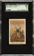 "Golf Cards:General, 1932 Abdulla & Co. ""Sports Records"" Bobby Jones #200 SGC 40 VG 3...."