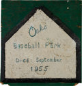 Baseball Collectibles:Others, 1955 Oakland Oaks Last Home Plate....