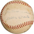 Autographs:Baseballs, Circa 1960 Mickey Mantle Single Signed Baseball &Photograph....