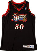 Basketball Collectibles:Uniforms, 1998-99 Casey Shaw Game Worn Philadelphia 76ers Game WornJersey....