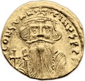 Ancients:Byzantine, Ancients: Constans II (641-668). AV solidus (20mm, 4.40 gm, 7h)....