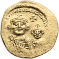 Ancients:Byzantine, Ancients: Heraclius (610-641). AV solidus (20mm, 4.40 gm, 6h). ...