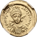 Ancients:Byzantine, Ancients: Justinian I the Great. 527-565. AV solidus (22mm, 4.48gm, 6h). ...