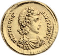 Ancients:Roman Imperial, Ancients: Theodosius I the Great (AD 379-395). AV solidus (22mm,4.40 gm, 6h). ...