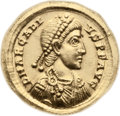 Ancients:Roman Imperial, Ancients: Arcadius (AD 383-408). AV solidus (22mm, 4.46 gm, 12h)....