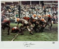 Football Collectibles:Photos, 1962 Jim Brown Signed Neil Leifer Original Oversized Photograph....