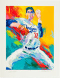 Autographs:Others, Circa 1990 Sandy Koufax Serigraph by LeRoy Neiman, Signed by Both....