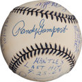 Autographs:Baseballs, 1990's-2000's Mickey Mantle Home Run Pitchers Multi-Signed Baseball....