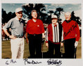 Golf Collectibles:Autographs, Mid-1990's George H.W. Bush, Bill Clinton, Bob Hope & GeraldFord Signed Photograph....