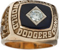 Baseball Collectibles:Others, 1981 Los Angeles Dodgers World Championship Ring Presented to JerryDoggett....