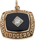 Baseball Collectibles:Others, 1981 Los Angeles Dodgers World Championship Pendant....