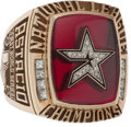 Baseball Collectibles:Others, 2005 Houston Astros National League Championship Ring in OriginalDisplay Box....