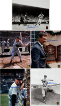 Autographs:Photos, 1990's Ted Williams Signed Large Photographs Lot of 5....