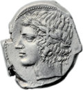 Ancients:Greek, Ancients: Leontini. Ca. 430-425 BC. AR tetradrachm (24mm, 17.26 gm, 3h). ...