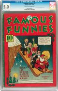 Platinum Age (1897-1937):Miscellaneous, Famous Funnies #5 (Eastern Color, 1934) CGC VG/FN 5.0 Cream to off-white pages....