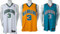 Basketball Collectibles:Uniforms, 2006 Chris Paul Signed Jerseys Lot of 3....