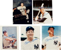 Autographs:Photos, 1980's Mickey Mantle Signed Photographs Lot of 5....