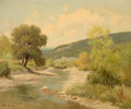 Paintings, PALMER CHRISMAN (American, 1913-1984). Landscape with River. Oil on canvas. 25 x 30 inches (63.5 x 76.2 cm). Signed lowe...