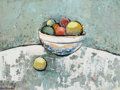 Paintings, DAVID BROWNLOW (American, 1915-2006). Still Life with Apples. Oil on masonite. 19 x 24 inches (48.3 x 61.0 cm). Signed l...