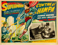 Memorabilia:Poster, Superman in Scotland Yard Spanish-Language Lobby Card(1954)....