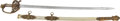 Edged Weapons:Swords, Superb Quality and Condition Silver Grip Civil War Staff Officer's Sword Presented to Captain Charles W. Borbridge 28th Pe...