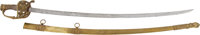 Civil War Brass Scabbard Presentation Grade Sword Presented to Captain Minotta A. Pruyn, 1st New Mounted Rifles