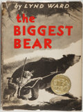 Books:Children's Books, Lynd Ward. The Biggest Bear. Boston: Houghton Mifflin,[1952]. Later printing of first edition with Caldecott Medal ...