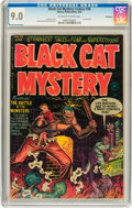 Golden Age (1938-1955):Horror, Black Cat Mystery #36 Bethlehem pedigree (Harvey, 1952) CGC VF/NM9.0 Off-white to white pages....