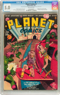 Golden Age (1938-1955):Science Fiction, Planet Comics #1 (Fiction House, 1940) CGC VG/FN 5.0 Off-whitepages....