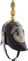 Militaria:Helmets, Imperial Russian 10th Infantry Regiment Spiked Helmet....
