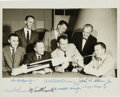"""Autographs:Celebrities, """"Mercury Seven"""" NASA Astronaut Group One Photo Signed by All...."""