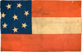 Military & Patriotic:Civil War, Confederate Eight Star (Virginia) 1st National Flag with Fascinating History, with Analysis by Fonda Thomsen....