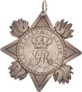 Militaria:Insignia, Silver Medal for Gallantry, Battle of Bunker Hill from King GeorgeIII to Captain Peter Ewing of the Royal Marines, June 17, 1...