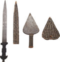 Edged Weapons:Knives, Lot of Two African Ethnographic Edged Weapons.... (Total: 2 Items)
