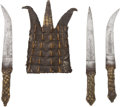 Edged Weapons:Knives, North African Ethnographic Knife Ensemble....