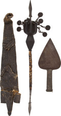 Edged Weapons:Knives, Lot of Three North African Ethnographic Items.... (Total: 3 Items)