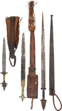 Lot of Six North African Ethnographic Knives