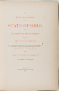 Books:Reference & Bibliography, Peter G. Thomson. A Bibliography of the State of Ohio.Cincinnati: Published by the Author, 1880. First edition, fir...