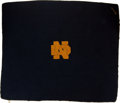 Football Collectibles:Others, 1931-33 Fred Carideo Notre Dame Fighting Irish Blanket....