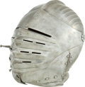 Antiques:Antiquities, Fine Fluted Maximilian Close Helmet....