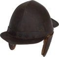 Antiques:Antiquities, Rare 17th Century European Sappers' Helmet.... (Total: 2 Items)