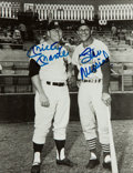 Baseball Collectibles:Photos, Stan Musial and Mickey Mantle Multi Signed Photograph....